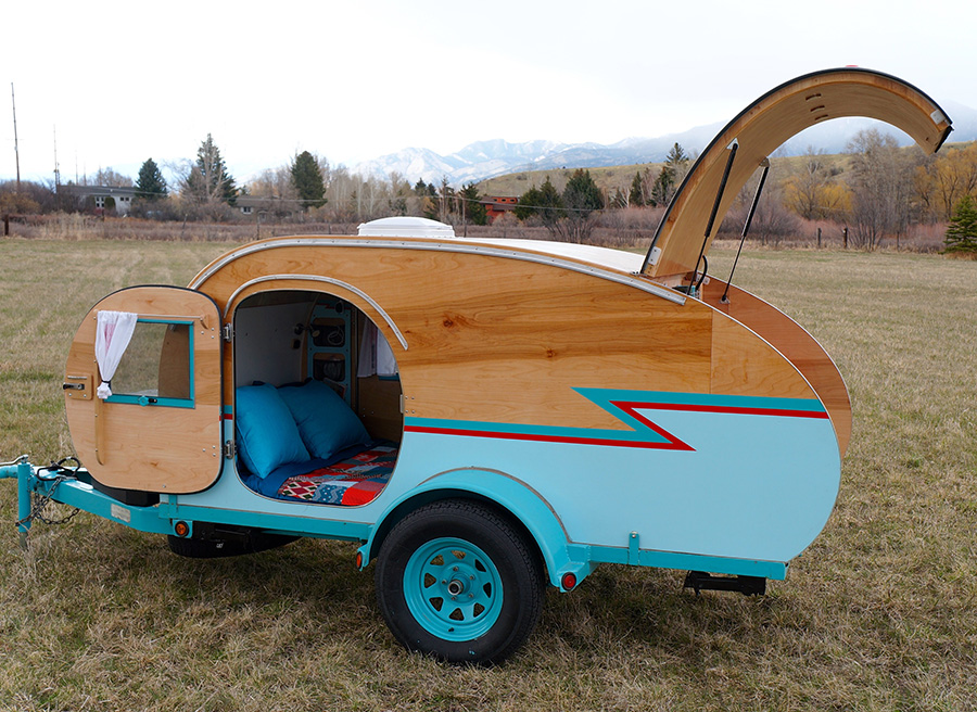 Build It Yourself Campers Build It Yourself Cabin Kits: Montana Artists Build Teardrop Trailer From Recycled Auto