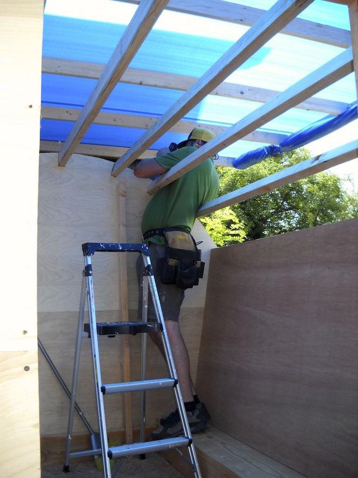 Rafters on gypsy wagon