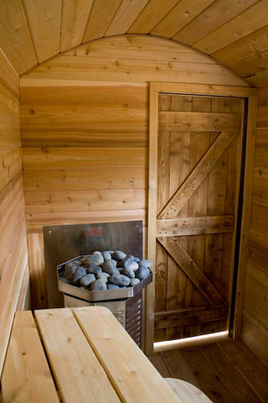 Park this mobile sauna by your favorite swimming hole for Cost to build a sauna