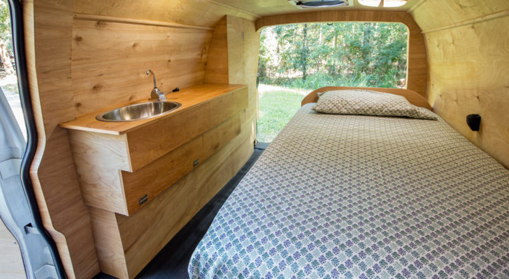 Houston Man Converts Cargo Van Into Beautiful Tiny Home – And He'll Teach You
