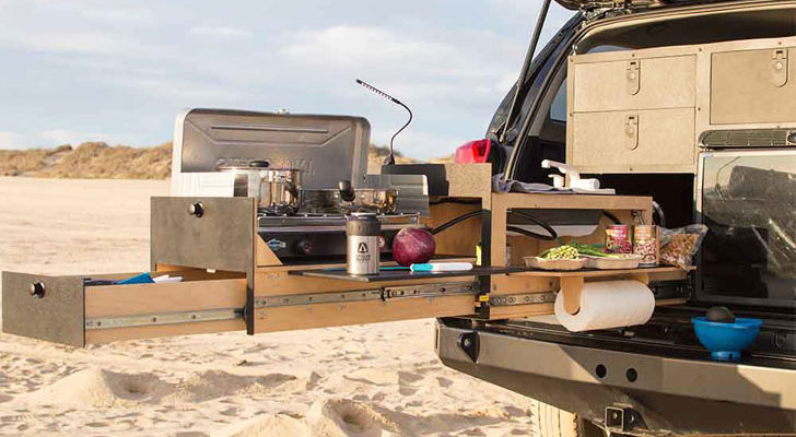 New Slide-Out Kitchens Make Cooking On The Road Easier Than Ever
