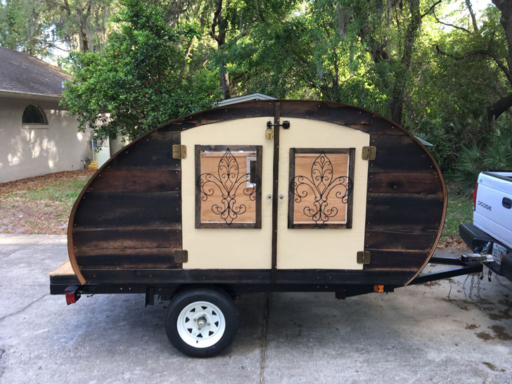 How To Make Your Own Reclaimed Wood Teardrop Travel Trailer
