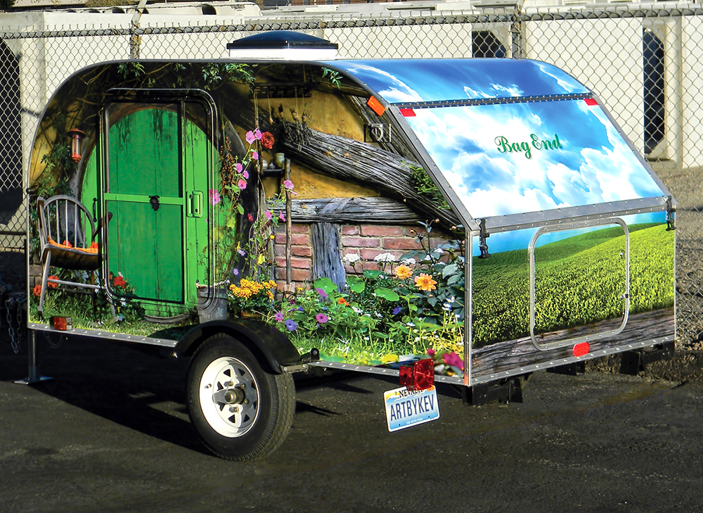 Teardrop Trailer Wrapped In Artist S Design Rolled Right