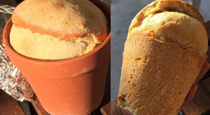 How To Make Bread When You're Camping…Using Just A Flower Pot!