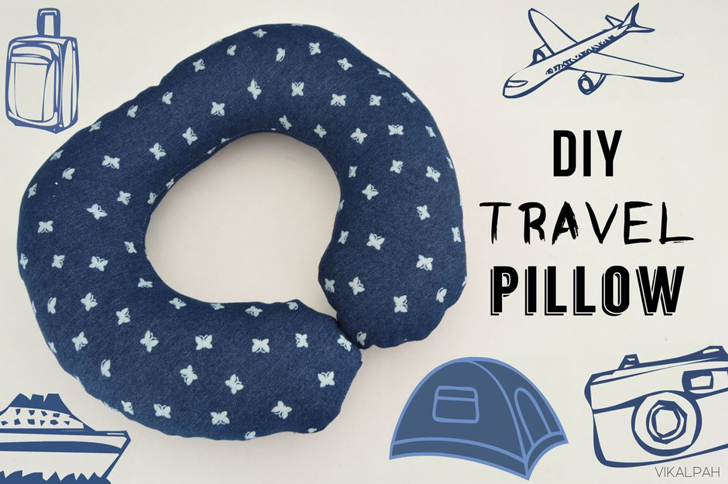 How To Make Your Own Neck Travel Pillow Without A Sewing