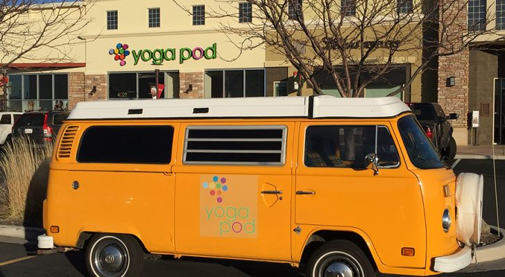 This Volkswagen Westfalia Advertises On-The-Go For A Yoga Studio