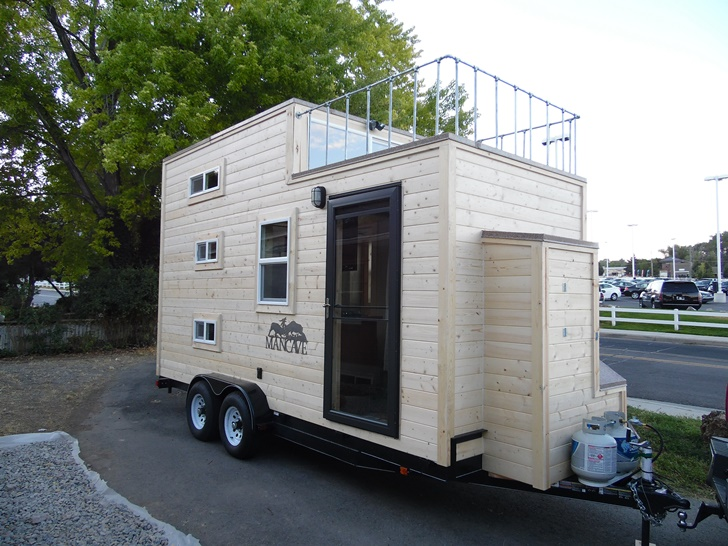 Man Cave Trailer : The man cave tiny home trailers by upper valley homes