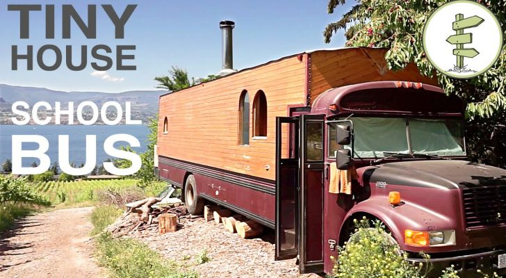 Take A Tour Inside This Vegetable Oil-Powered Converted School Bus [Video]