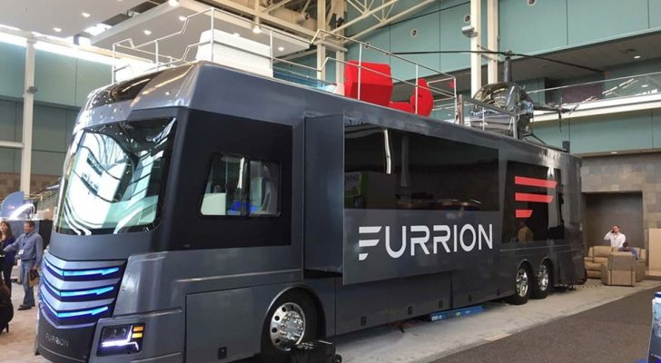 This High-Tech RV Has A Hot Tub & Mini Helicopter On The Roof