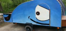 "This Homemade Teardrop Trailer Is ""Whale"" Built"