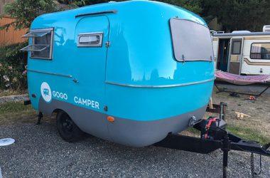 """A Sneak Peek Inside Gogo Camper's Vintage """"Egg"""" Trailer Rentals"""