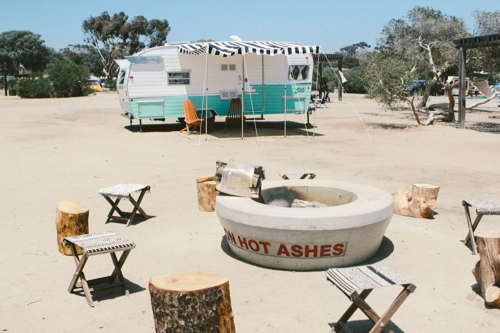 San Clemente vintage trailers