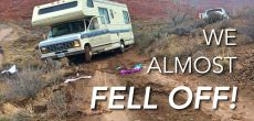 Watch This RV Get Stuck In The Mud And Almost Fall Off A Cliff