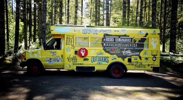 This Bartender Quit His Job To Travel In A Converted School Bus