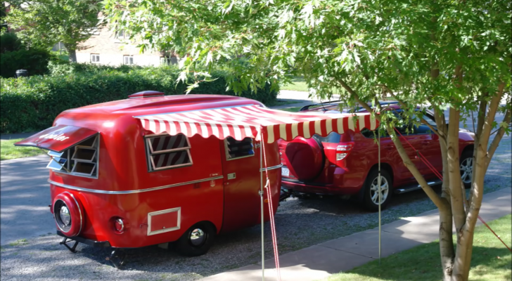 This Rare 1977 Boler Trailer Got A Charming Renovation