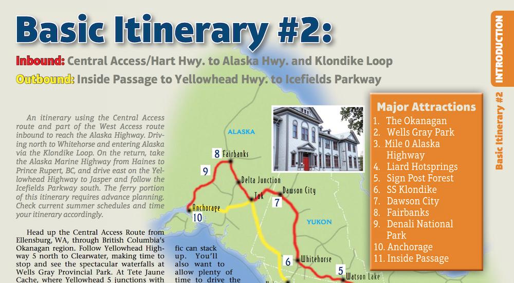 Milepost Basic Itinerary