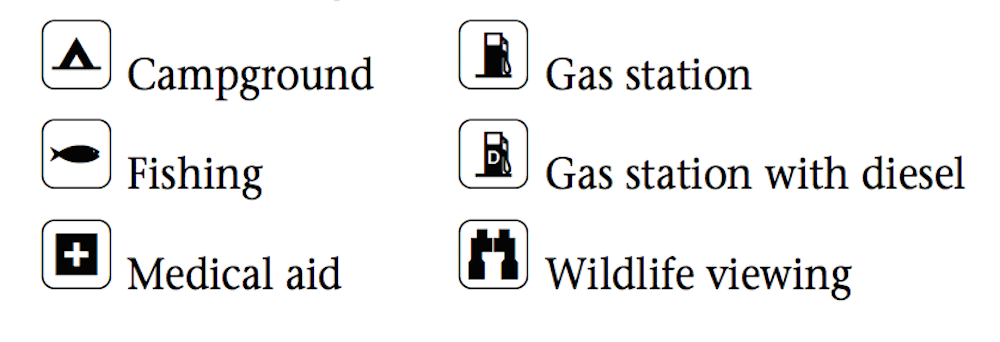 Milepost Symbols