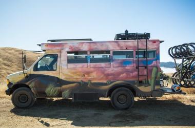 Take A Peek Inside This Pro Biker's Converted School Bus