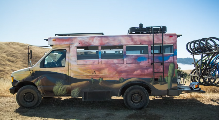 Take A Peek Inside This Pro Biker's Converted School Bus