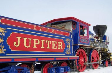 The Jupiter, Engine owned by the Central Pacific Railroad that came to Promontory for the Golden Spike Ceremony