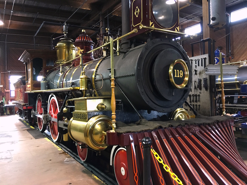 The Union Pacific's 119 in the Engine House.