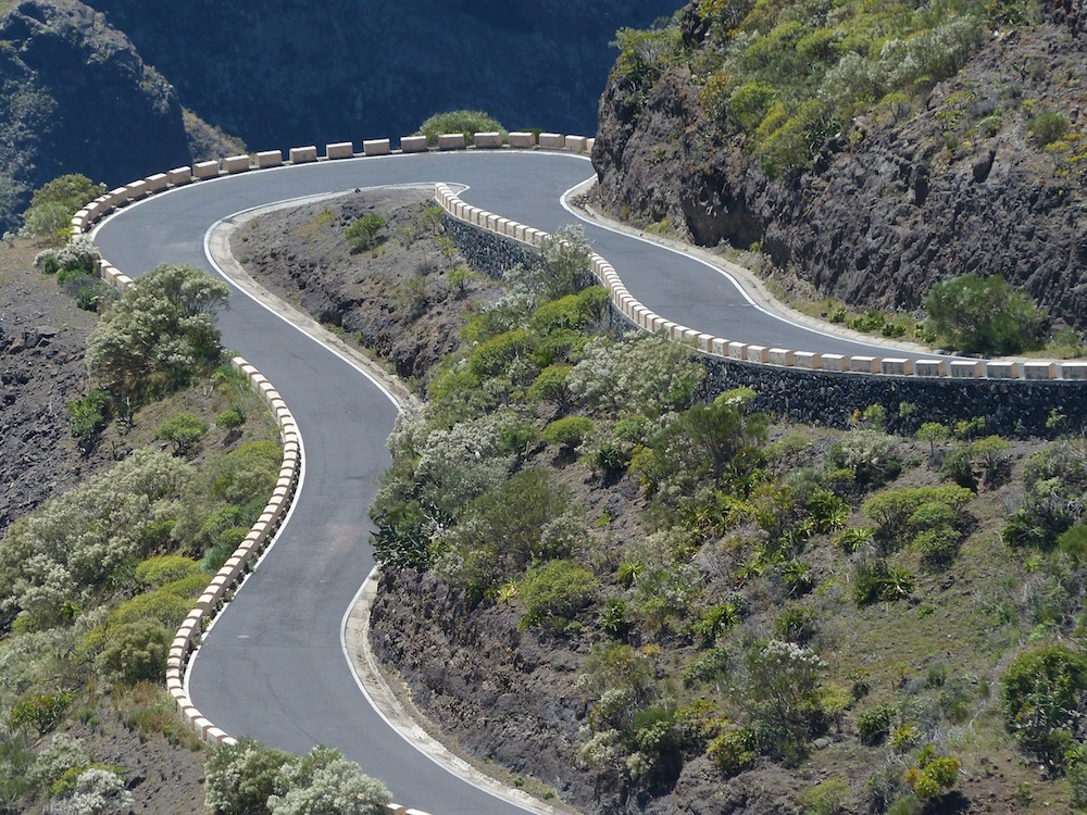 Curvy Mountain Road