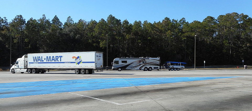 RV at a Rest Area