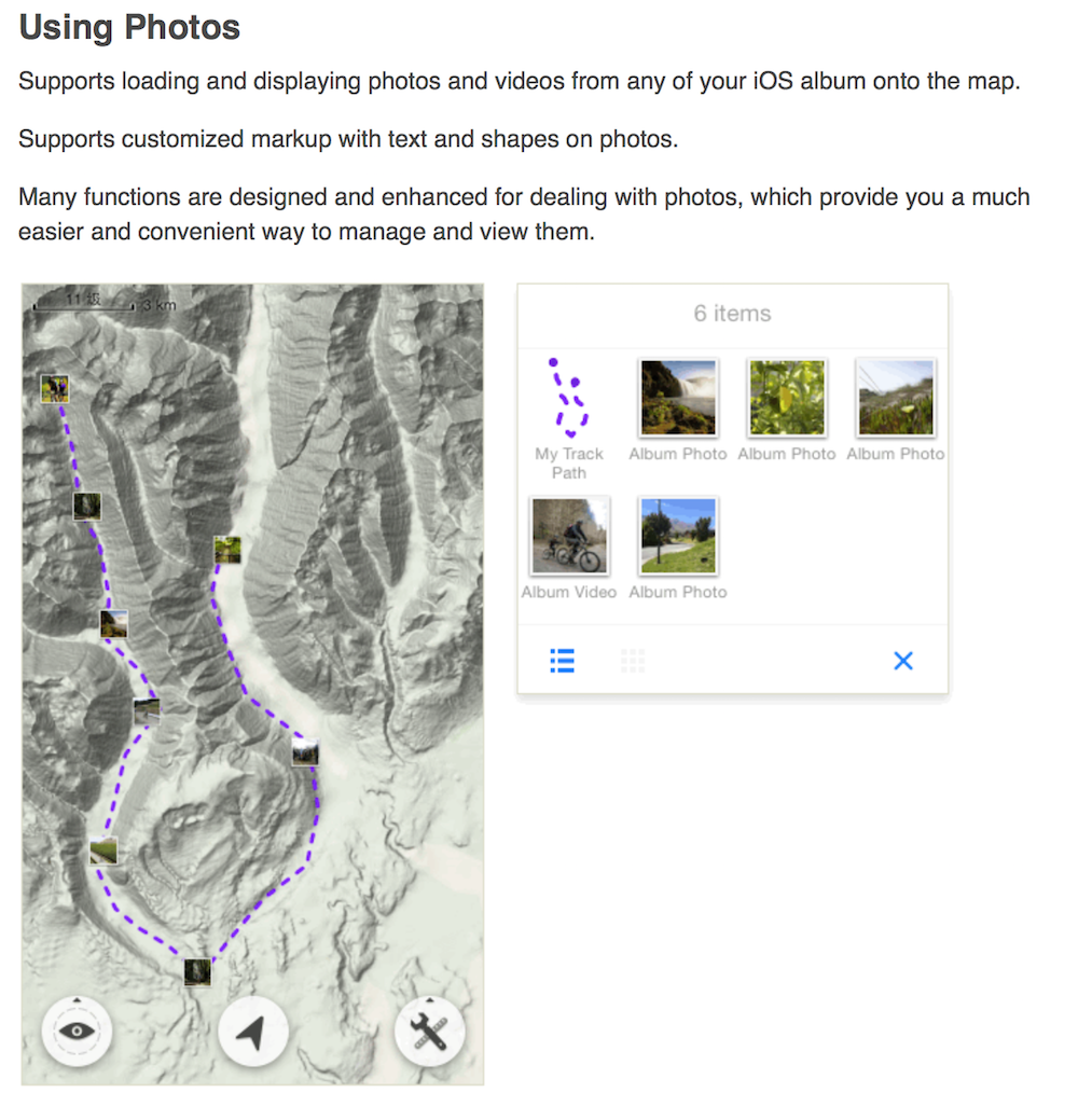 Map Plus Enhanced Photo Feature