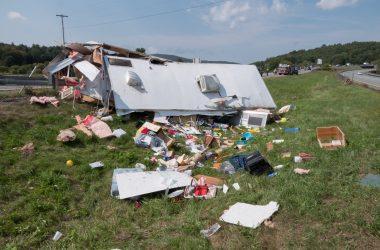 Camper Wrecks On Highway, Causes Insane Damage