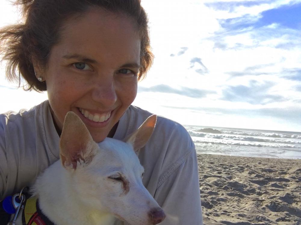 Golda and I on the Oregon Coast.