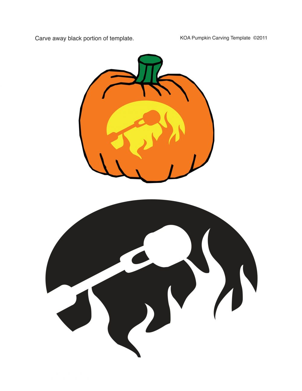 Rv And Camping Templates For Halloween Pumpkin Carving