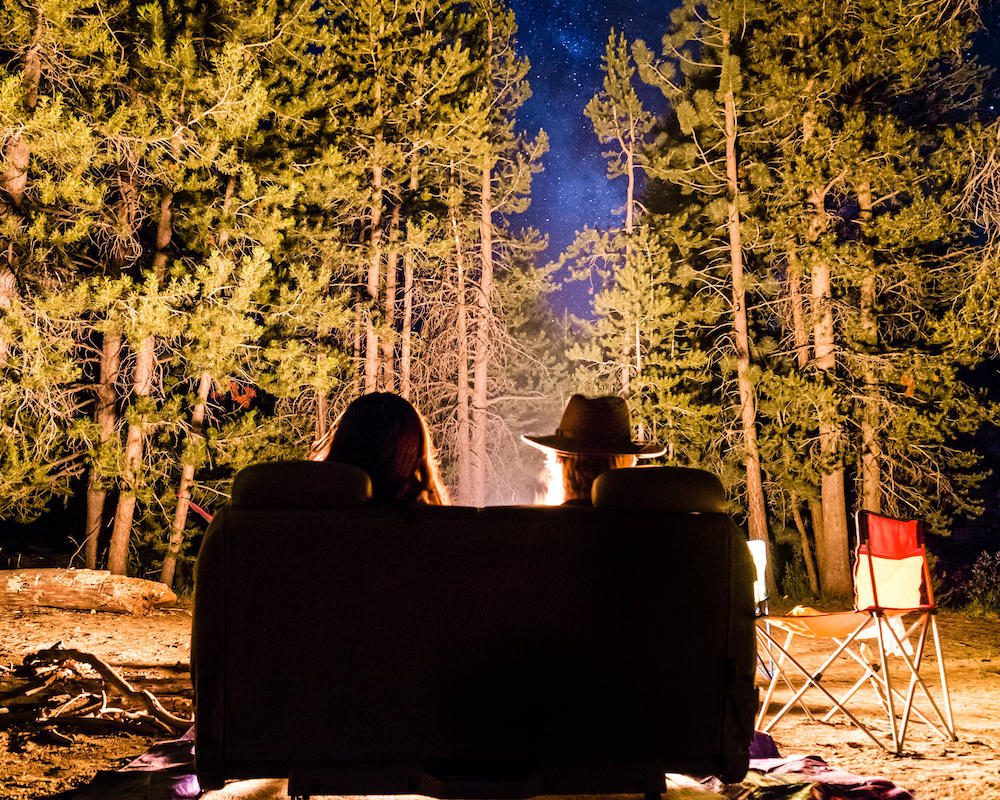 RV Couple Enjoying a Fire - RV subcultures