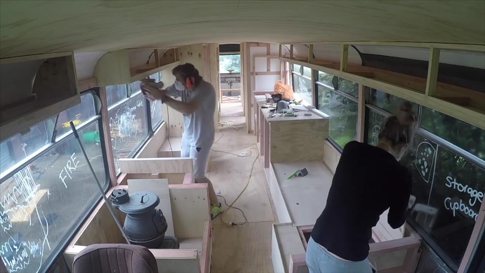 Converted School Bus Video Skoolie Conversion Inspiration