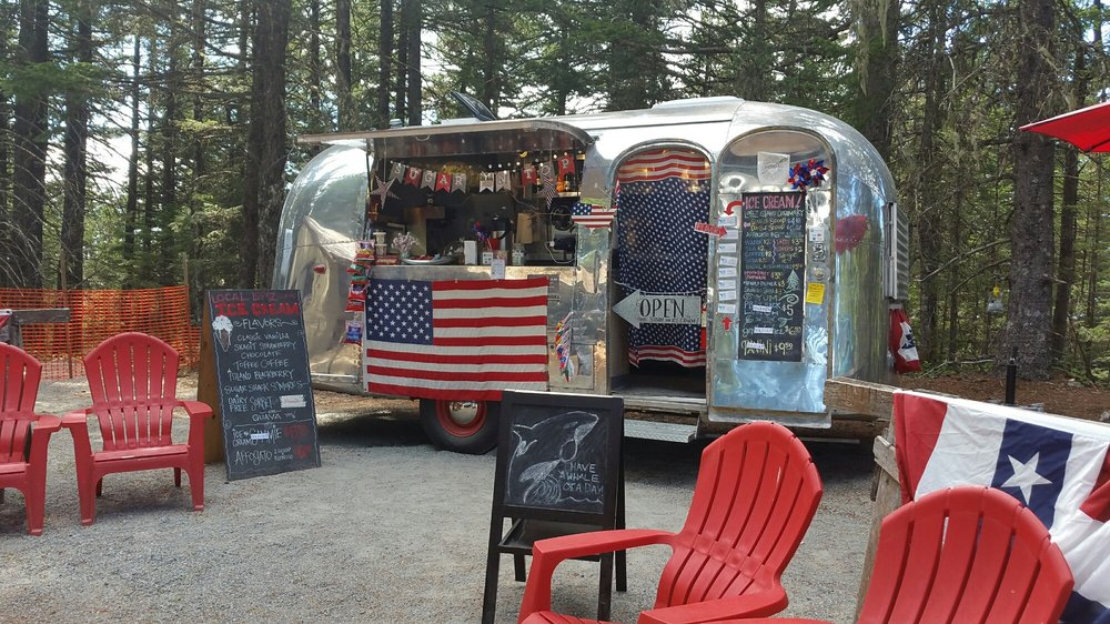Vintage Airstream Sells Ice Cream On Top Of Mount Constitution