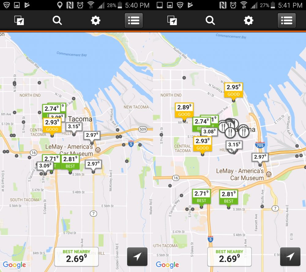 Free apps for finding cheap gas prices gas guru is only available through the app its a free download on itunes and from the google play store here gumiabroncs Choice Image