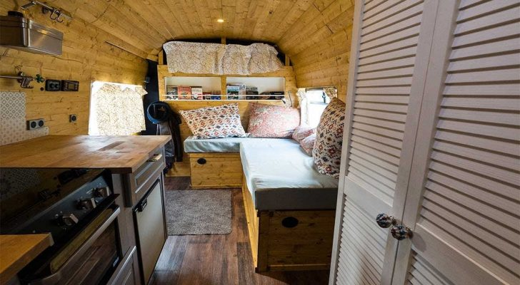 Step Inside This Charming Converted Sprinter Van