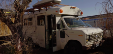 This Converted Short Bus Is A Traveling Free Tea Party