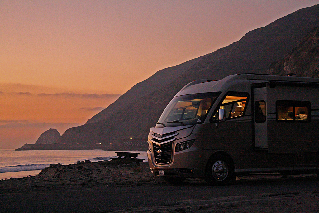 Solar Power RV on Beach