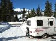 This Artist Travels Full-Time In A Tiny Scamp Fiberglass Trailer