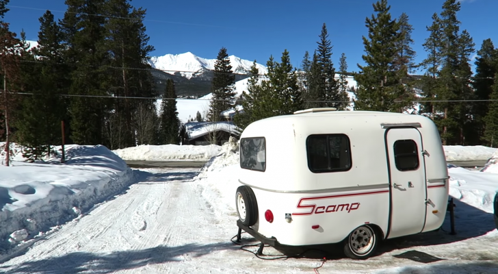 This Artist Travels Full-Time In A Tiny Scamp Trailer