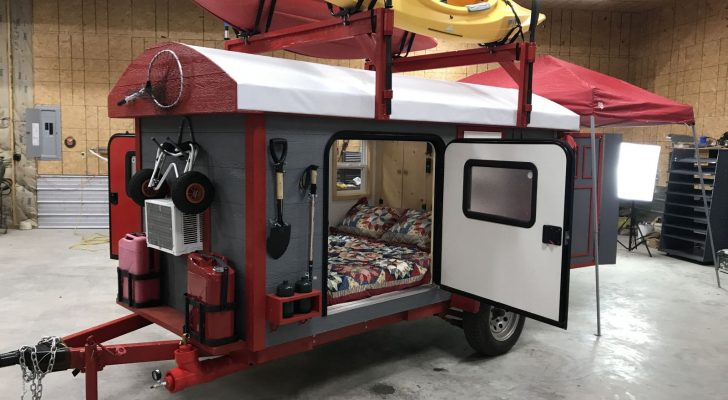 See Inside This Unique Chuckwagon Glamper Trailer