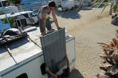 Make Your Rooftop RV Solar Panel Movable