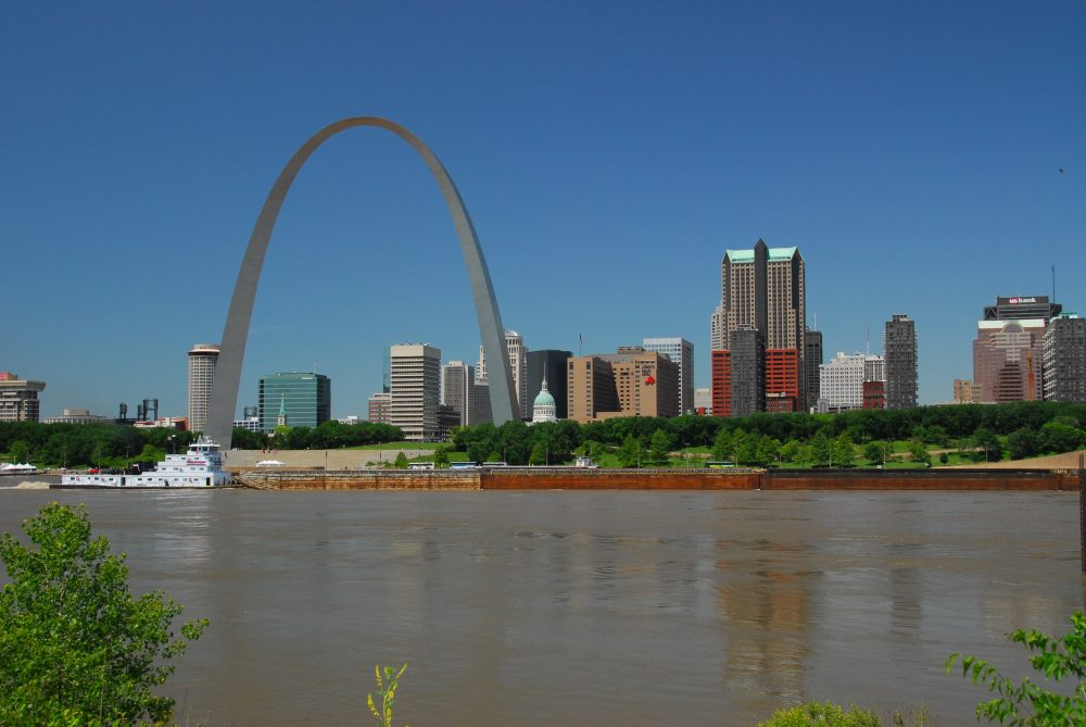 city where missouri and mississippi rivers meet gillingham