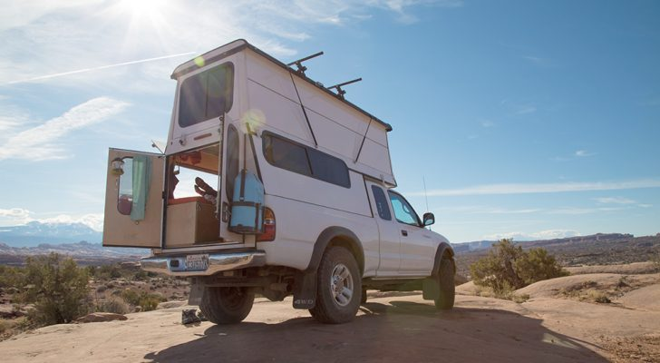 See How This Couple Built An Expandable Truck Camper Shell