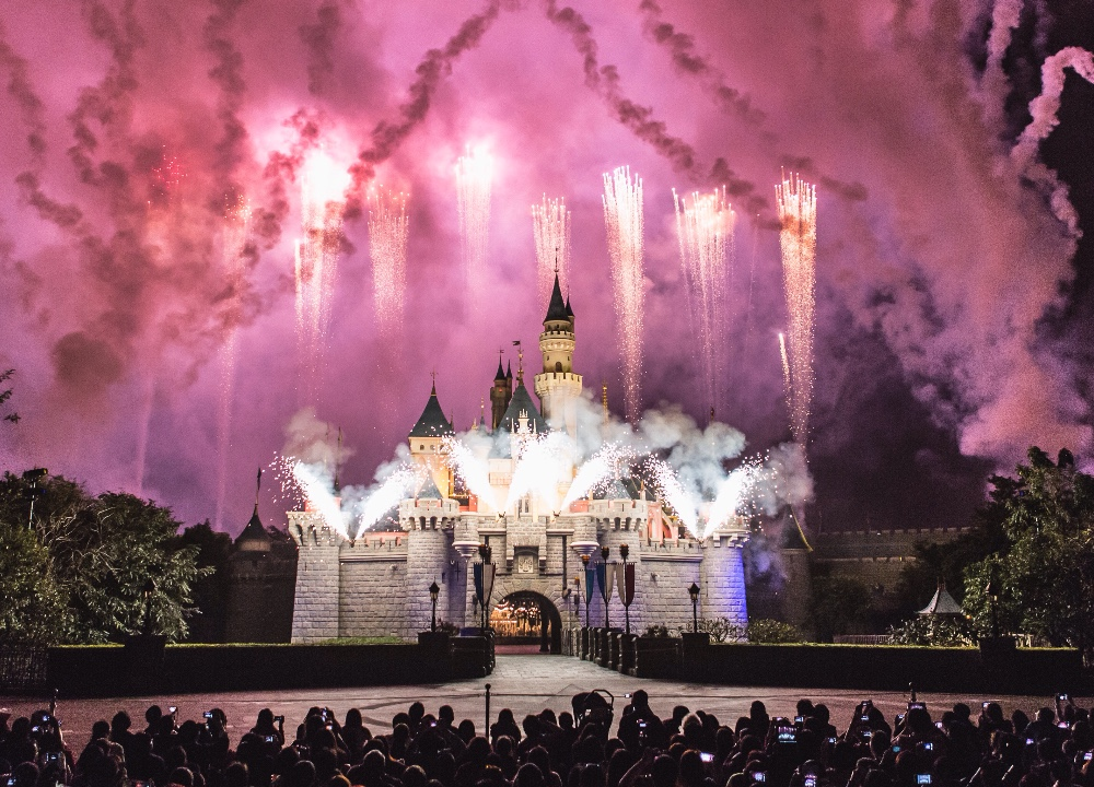 Nighttime entertainment at Disneyland
