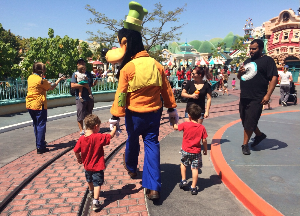 Walking with Goofy