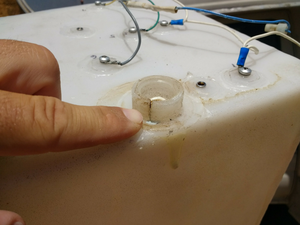 How To Fix A Cracked Leaking Water Tank Outlet With Thread