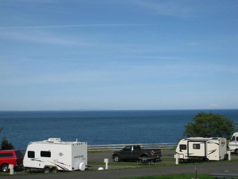 RV sites with a view. Photo by half-Brit