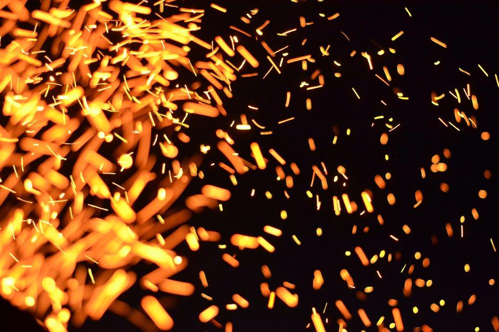 Sparking flames