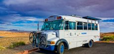 This Short Bus Was Turned Into A Modern Tiny Home On Wheels
